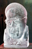 portrait ice sculpture