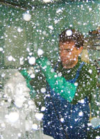 Luis with snow