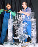 harris ranch ice carving